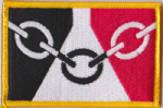 Black Country Embroidered Flag Patch, style 08.